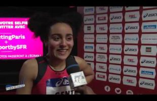 Interview AELYS GENTE – Meeting de Paris Bercy 27/01/2019 – 60m Haies 8″88